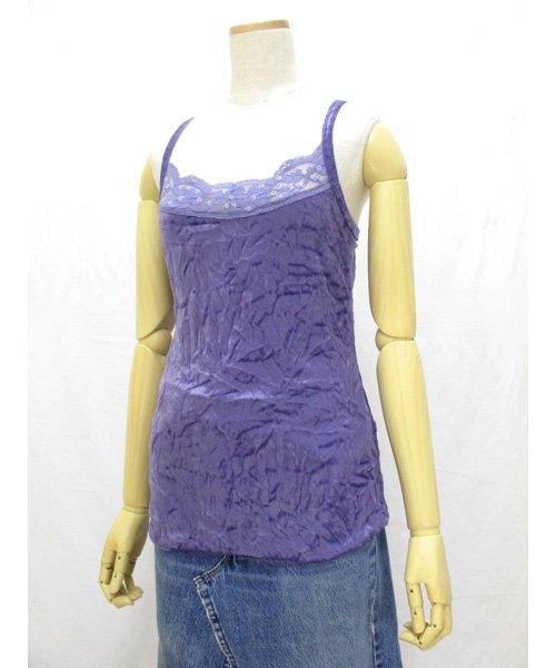 NAKED & WAITINGベロアキャミ紫  90年代フロントレース 新品