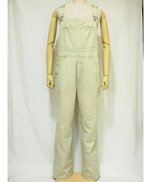 カルバンクラインCalvin Klein Jeansカーキオーバオール Deadstock XLサイズ
