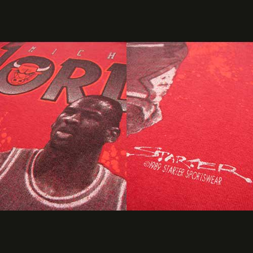 <img class='new_mark_img1' src='https://img.shop-pro.jp/img/new/icons50.gif' style='border:none;display:inline;margin:0px;padding:0px;width:auto;' />80's 古着 NBA マイケルジョーダン プリントTシャツ Lサイズの画像