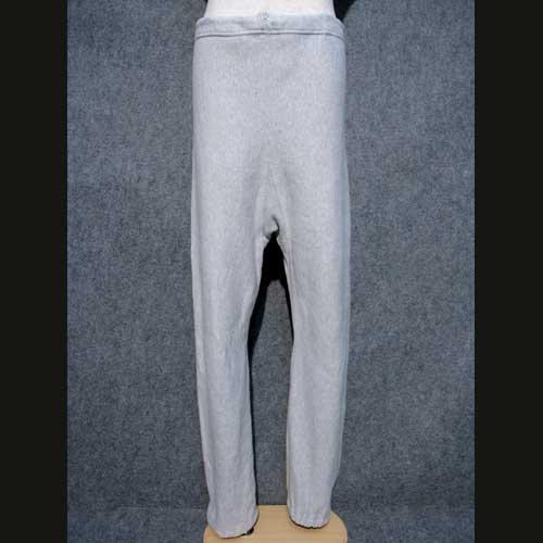 70's ビンテージ古着 杢グレー チャンピオン ステンシル入り 単色リバースウィープパンツ Lサイズ