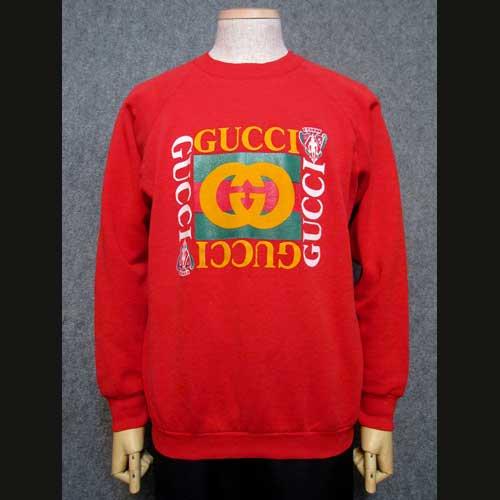 buy online 8aa18 4219e 古着 80年代グッチGUCCIスウェット赤・オールドスクール - 古着 ...