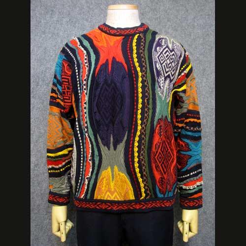 古着 COOGIクージー総柄模様セーター・HIP HOP Mサイズ