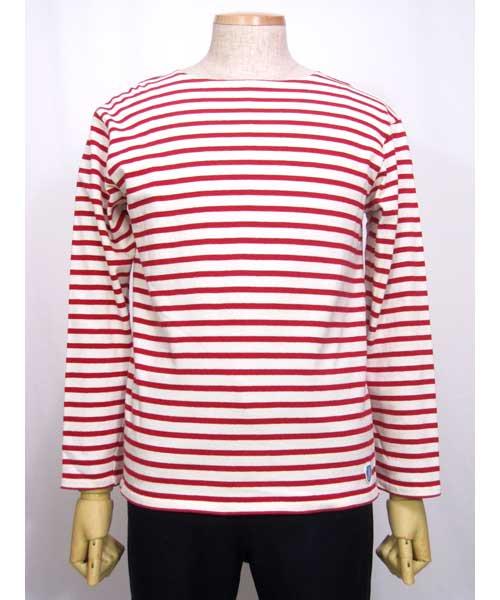fa2700a96539cb オーチバルORCIVALボーダーバスクシャツ赤×白. <img class='new_mark_img1' src='//img.shop-