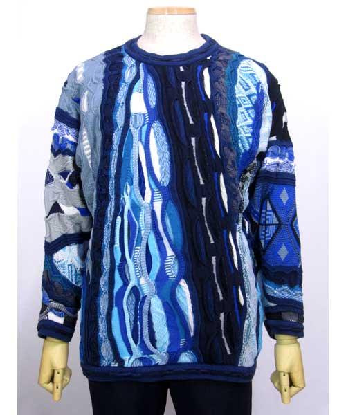 COOGIクージー総柄セーター(編み込みデザイン) Lサイズ