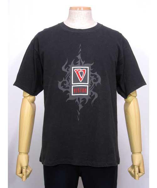 VISIONビジョンプリントTシャツ黒 USA製 Lサイズ