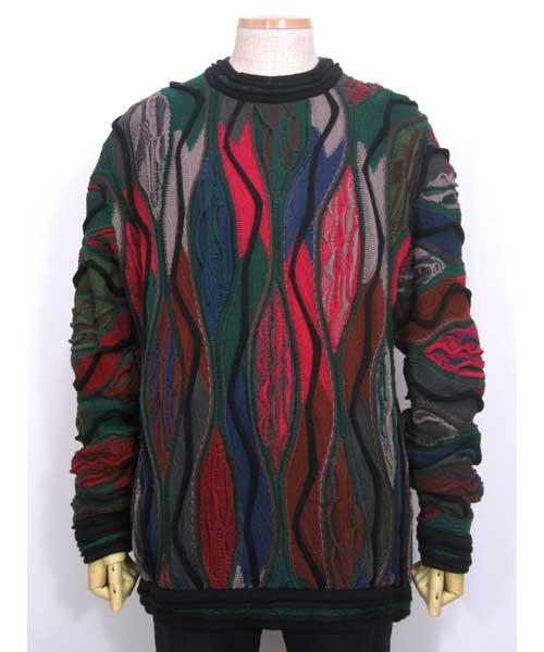 COOGIクージー総柄セーター(OLD SCHOOLヒップホップ) XLサイズ