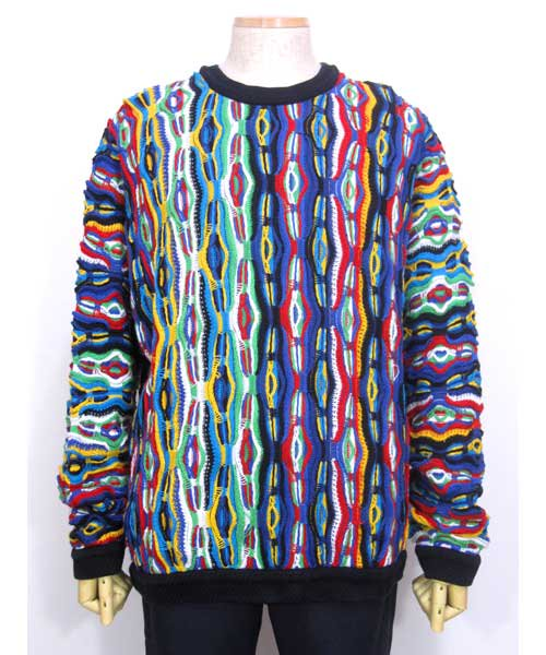COOGIクージー総柄デザインセーター(オールドスクール HIP HOP) XLサイズ
