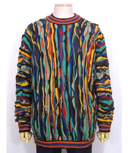 COOGIクージー総柄模様セーター(OLD SCHOOLヒップホップ) XLサイズ