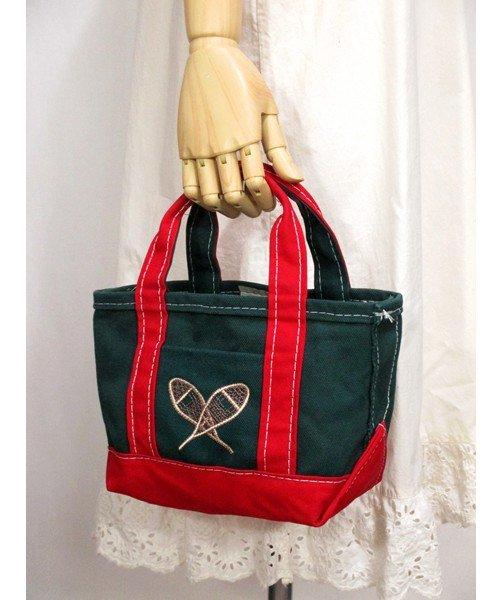 LL Beanラクロス刺繍キャンバスミニトートバッグ アメリカ製