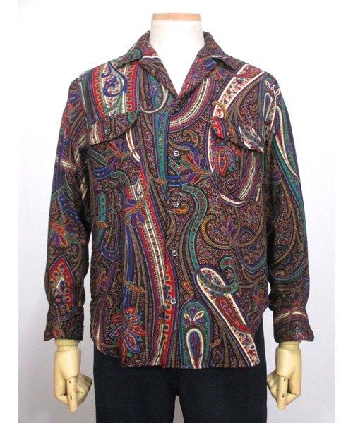 0067f40962c159 古着Ralph Laurenペイズリー柄ウールシャツ USA製- 古着屋Chum