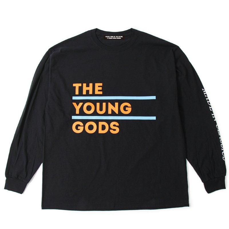 """UNC(ユーエヌシー)/""""THE YOUNG GODS"""" LONGSLEEVE -BLACK-"""