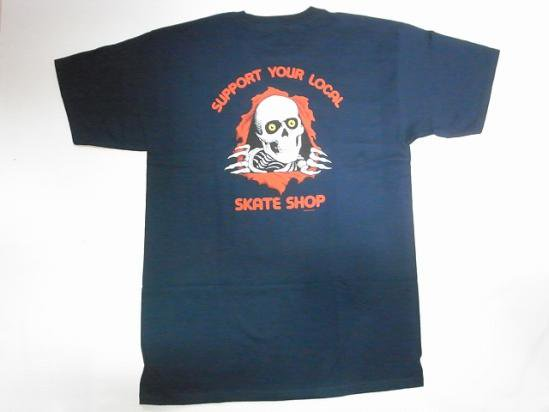 powell peralta パウエル リッパー ripper support your local tシャツ