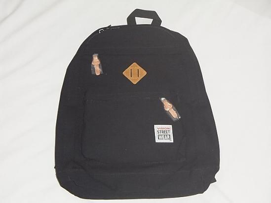 vision street wear ヴィジョン 1p backpack バックパック リュック 黒
