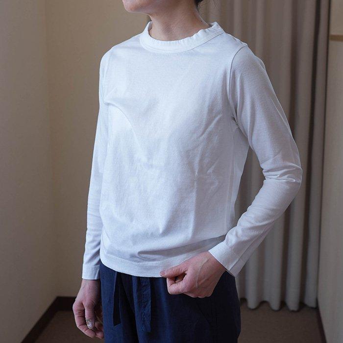 Homspun 天竺長袖Tシャツサラシ(ホワイト)