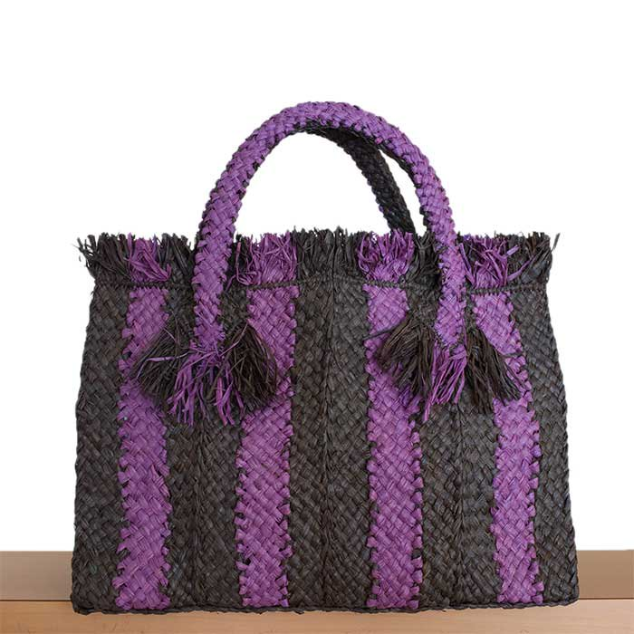 SANS ARCIDET GEORGES SOUBIQUE BAG S #ORAGE LILAS(パープル×グレー)
