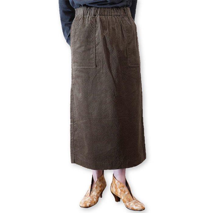 Nico. PORTLANDコーデュロイタイトスカート#カーキ