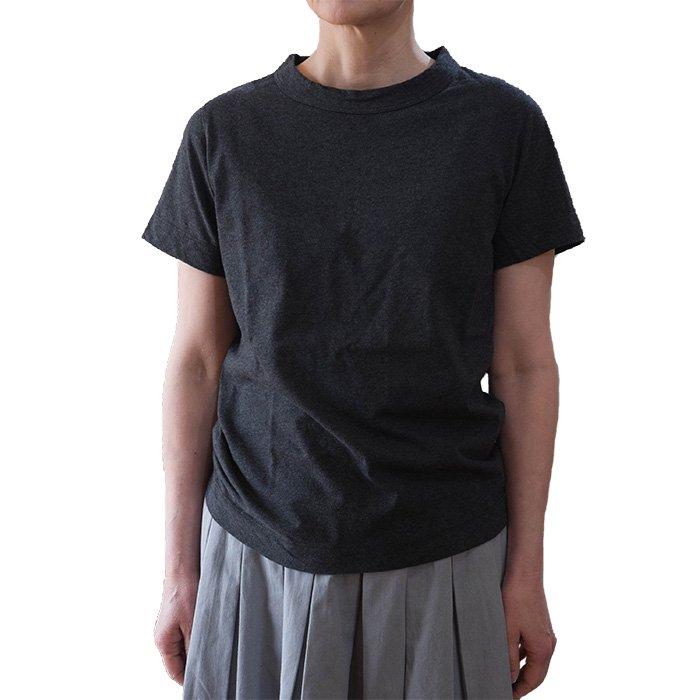 homspun 天竺半袖Tシャツ  #トップダークチャコール