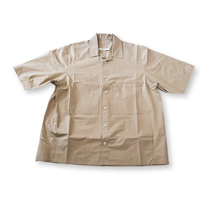 ippei takei [イッペイタケイ]open collar shirts#beige