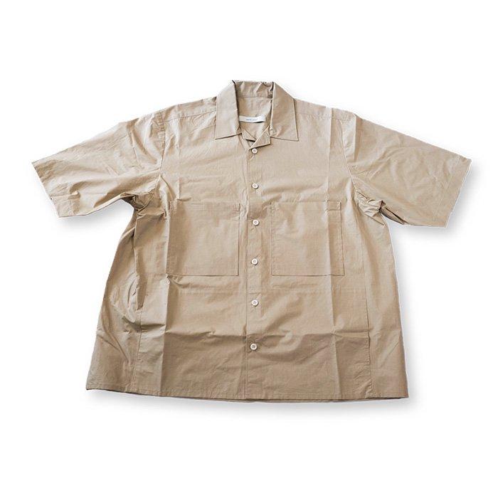 ippei takei [イッペイタケイ]open collar shirts#beige