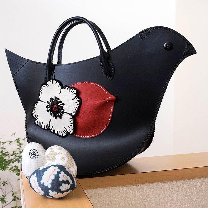 ミナペルホネン tori bag  #navy