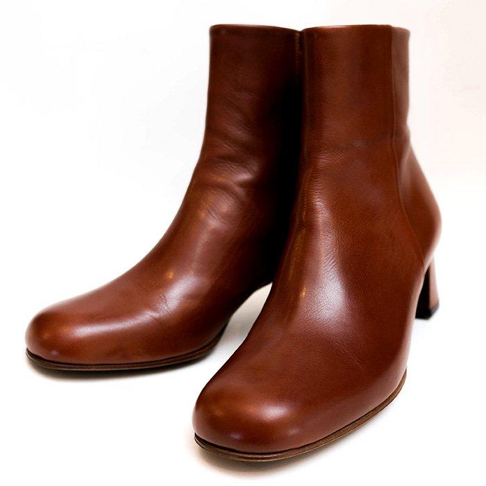 Chausser (ショセ) ショートブーツ #brown