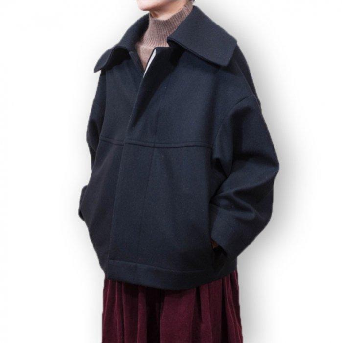 Honnete ショートバルーンコート#ブラック