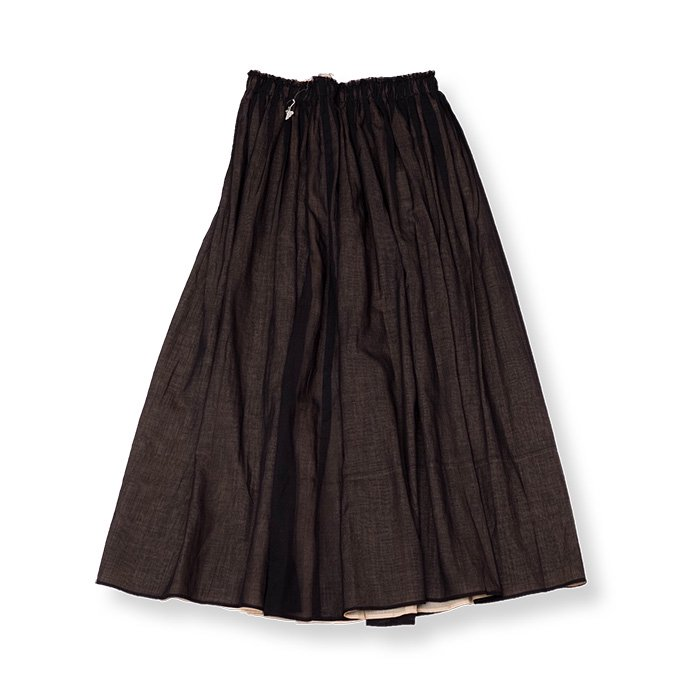 Antipastコットンローンスカート #black
