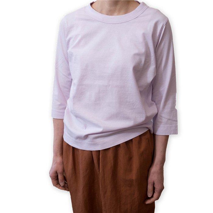 Homspun 天竺七分袖Tシャツ #ピンク