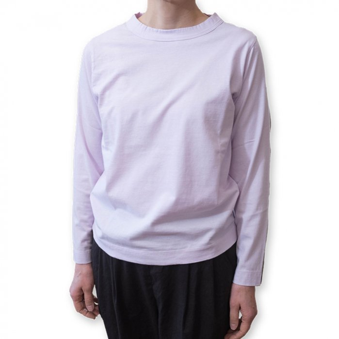 Homspun 天竺長袖Tシャツ#ピンク