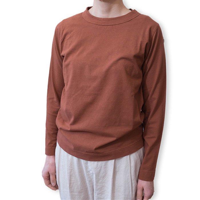 Homspun 天竺長袖Tシャツ#ブラウン