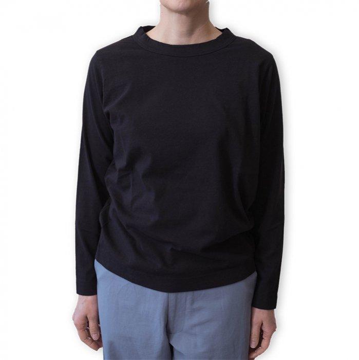 Homspun 天竺長袖Tシャツ#ブラック