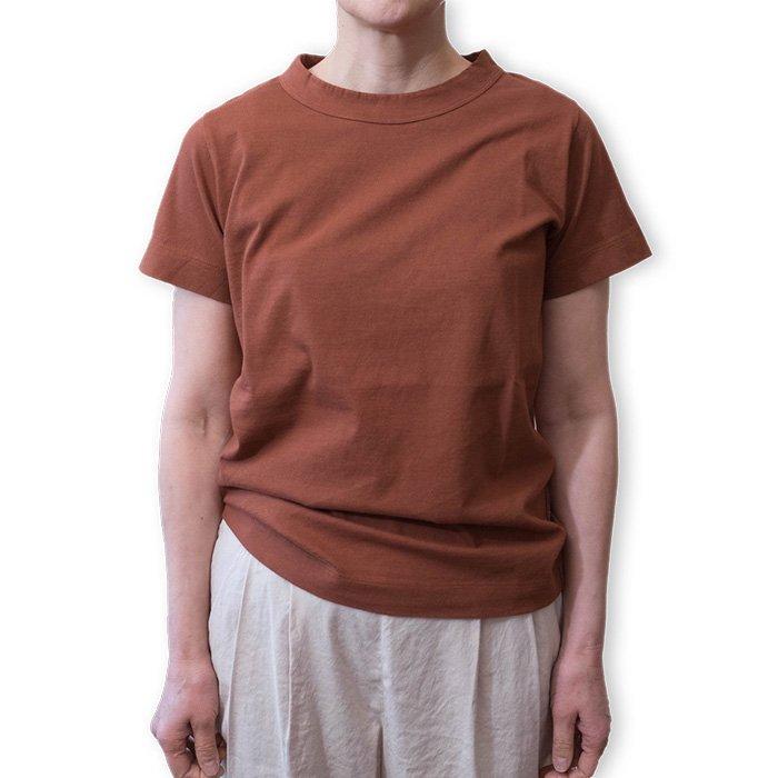 homspun 天竺半袖Tシャツ  #ブラウン