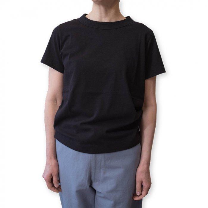 homspun 天竺半袖Tシャツ  #ブラック