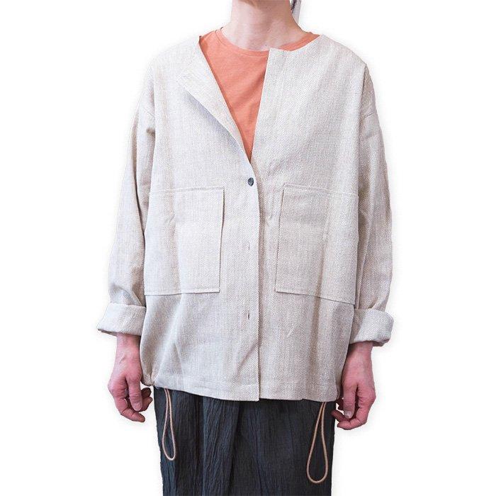 ippei takei [イッペイタケイ]  shirts jacket#リネンベージュ