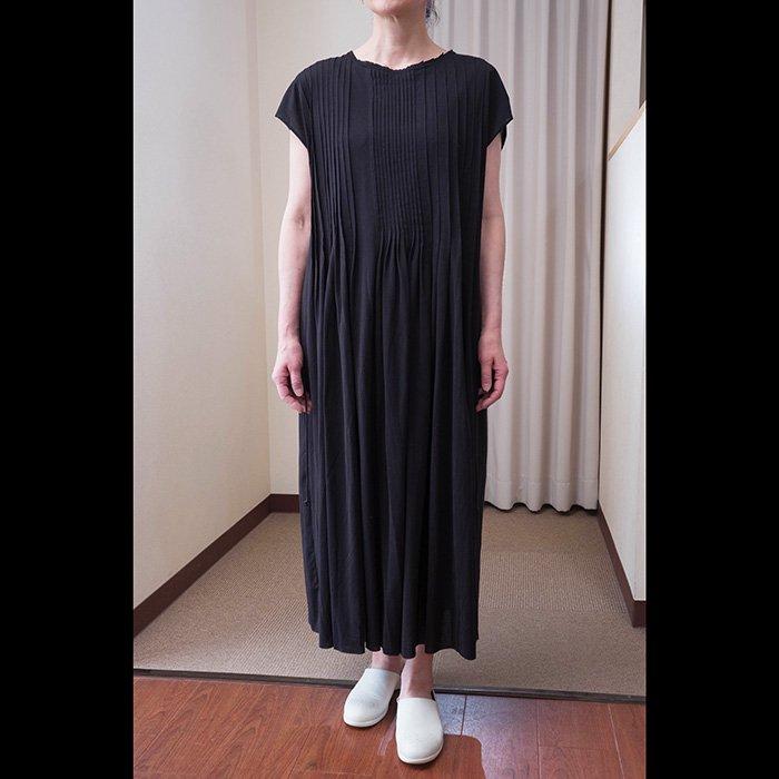 アンティパスト  ジャージプリーツドレス #ブラック