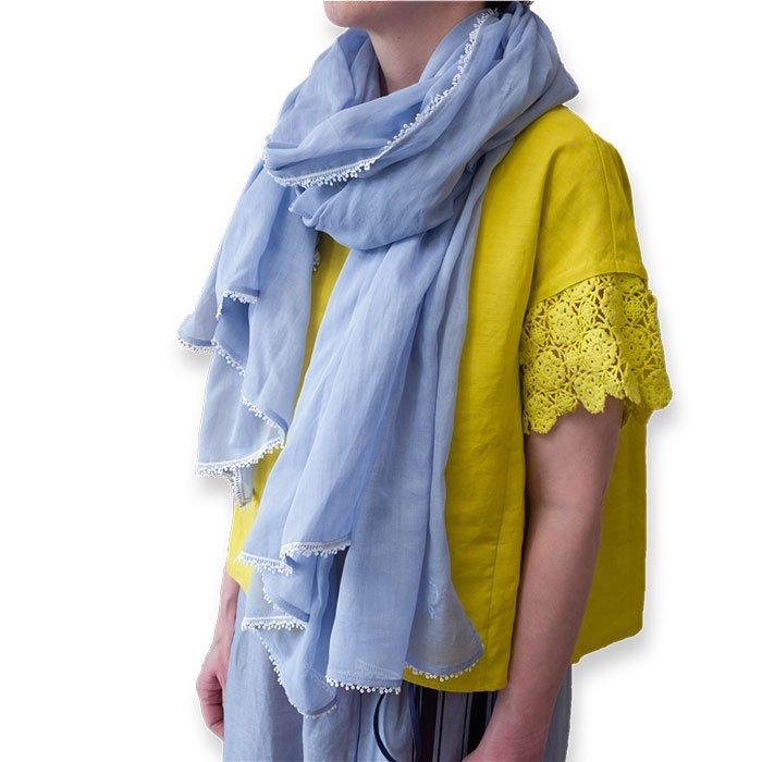 アンティパスト コットンローンスカーフ #ブルー