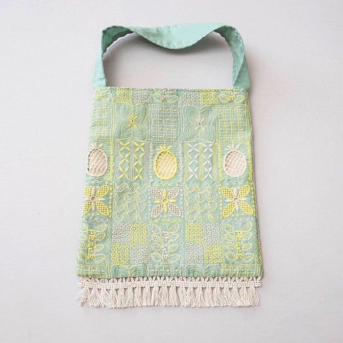 アンティパスト 刺繍スモールバッグ#ミント