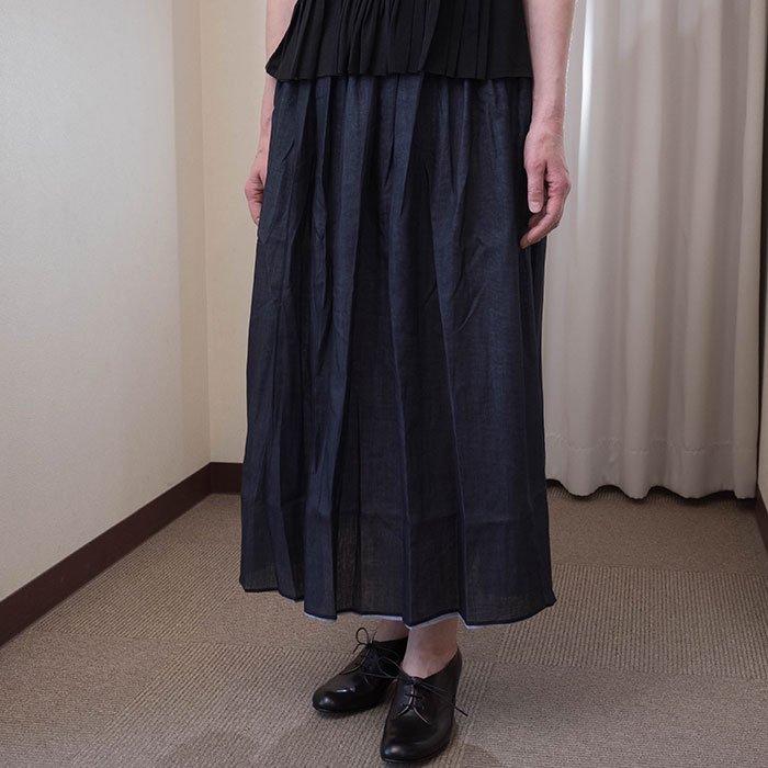 アンティパスト コットンローンスカート #ネイビー/ブルー