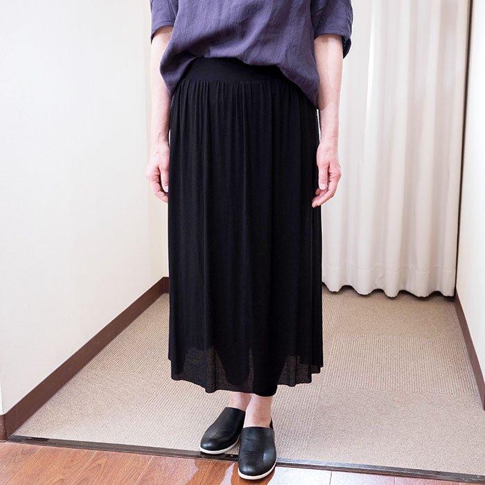 KOFTA [コフタ] コットンシフォンレギンス付きスカート#ブラック
