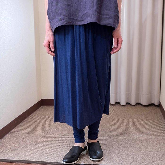 KOFTA [コフタ] コットンシフォンレギンス付きスカート#マリンネイビー