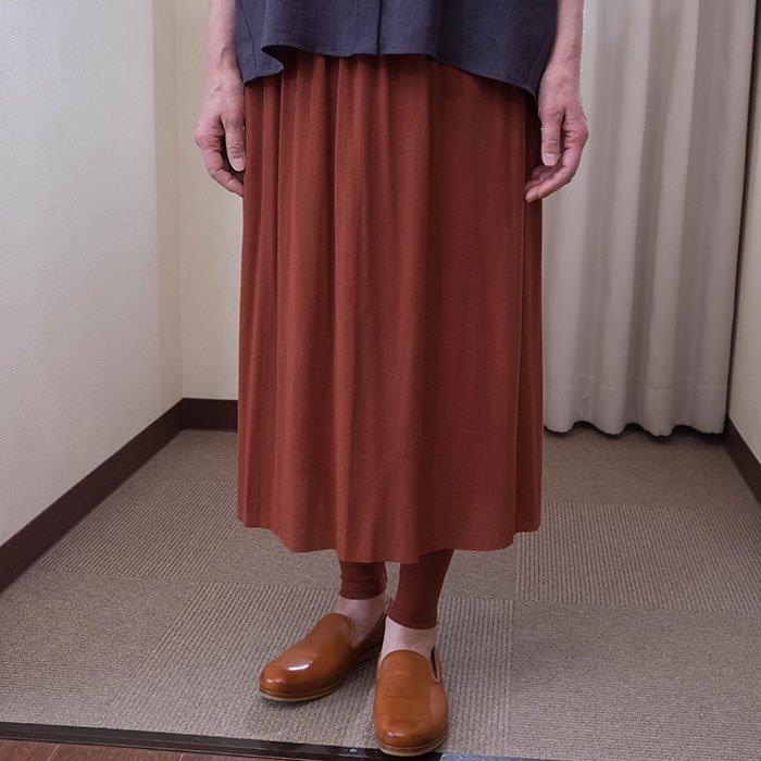 KOFTA [コフタ] コットンシフォンレギンス付きスカート#カカオ