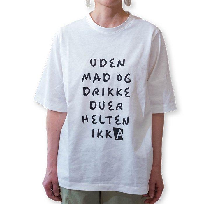 MOOLA [モーラ] レタードTシャツ #ホワイト