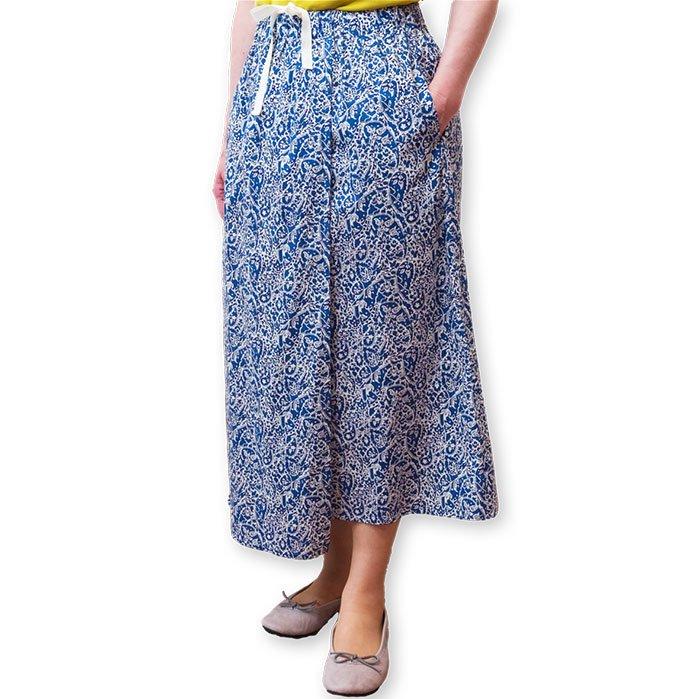 NICO. LOTTA リバティプリントスカート #ブルー