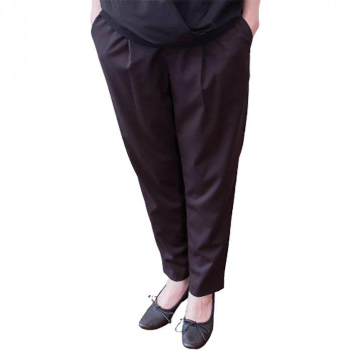 ara・ara[アラアラ] タックイージーパンツ #ブラック