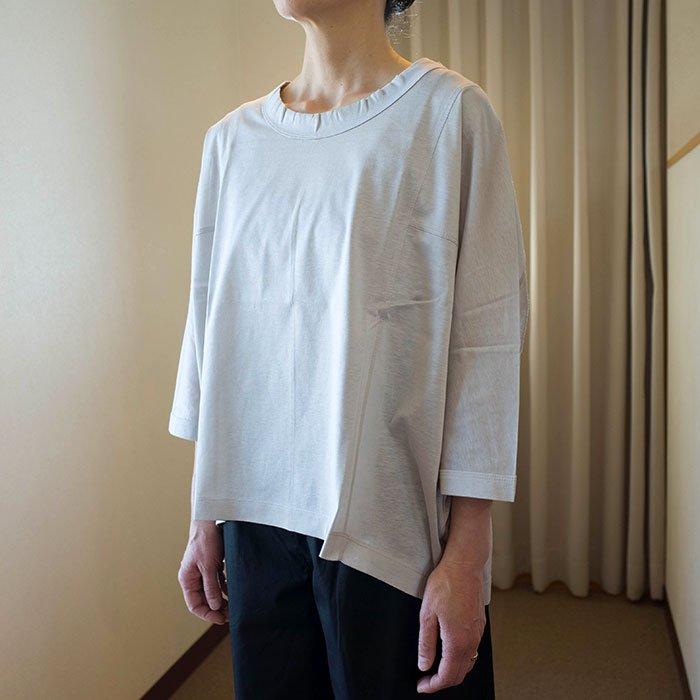 Le pivot / ル・ピボット  シルケット天竺ルーズTシャツ  #グレージュ