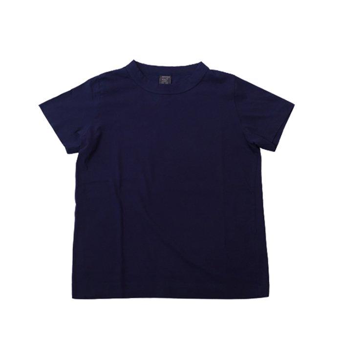 homspun 天竺半袖Tシャツ  #ネイビー