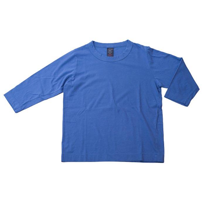 Homspun 天竺七分袖Tシャツ #ブルー