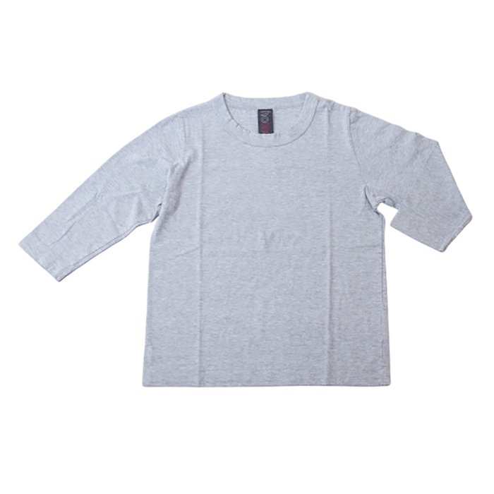 Homspun 天竺七分袖Tシャツ #TOPグレー