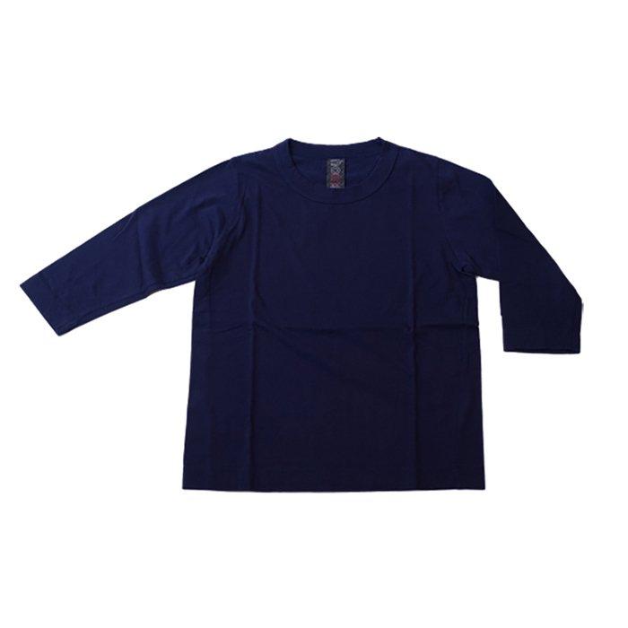 Homspun 天竺七分袖Tシャツ #ネイビー