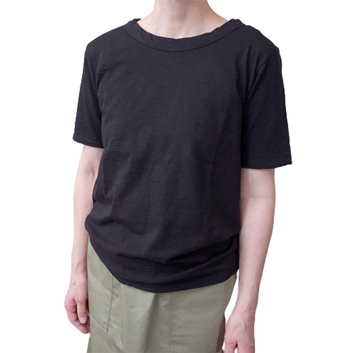 Le pivot / ル・ピボット  マーブル天竺クルーTシャツ #ブラック